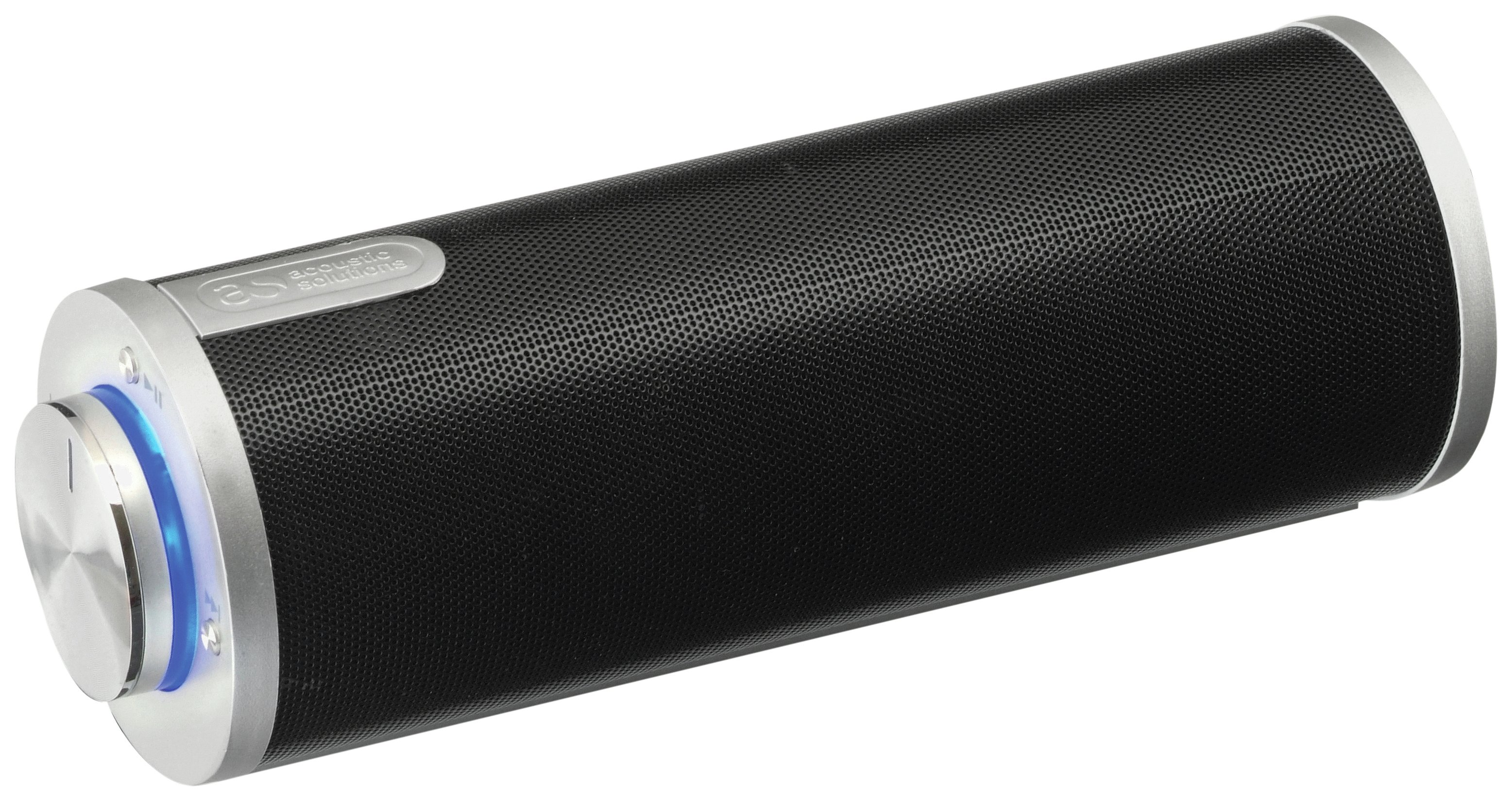 Image of Acoustic Solutions - Bluetooth Portable Speaker - Black/Silver