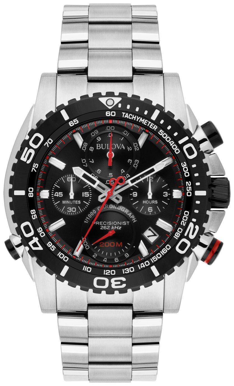 Bulova Men's Silver Stainless Steel Chronograph Watch