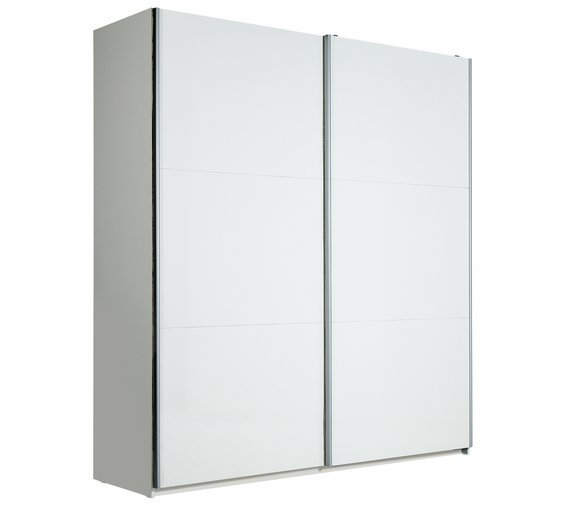 Buy Hygena Bergen 2 Door Large Sliding Wardrobe White