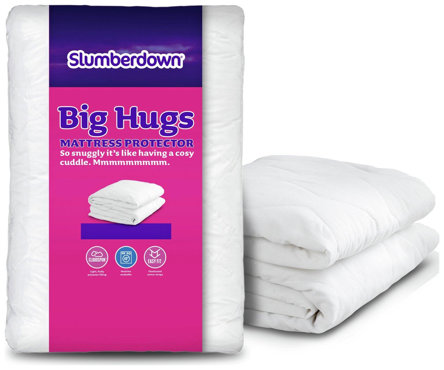 slumberdown  big hugs  mattress protector  single
