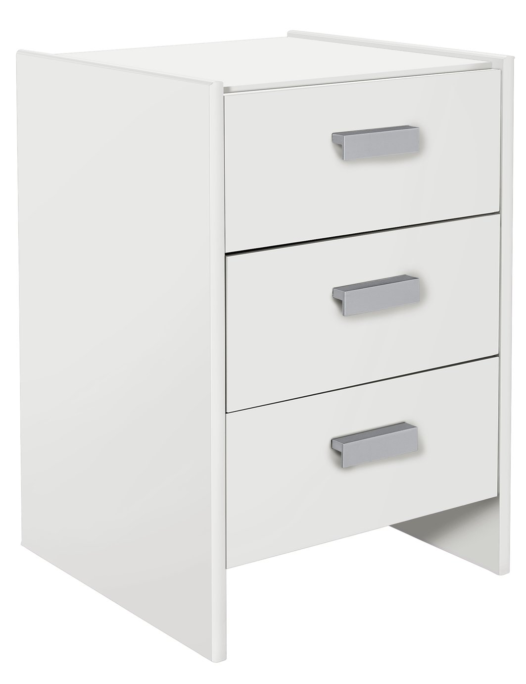 Image of HOME - New Capella 3 Drawer - Bedside Chest - White