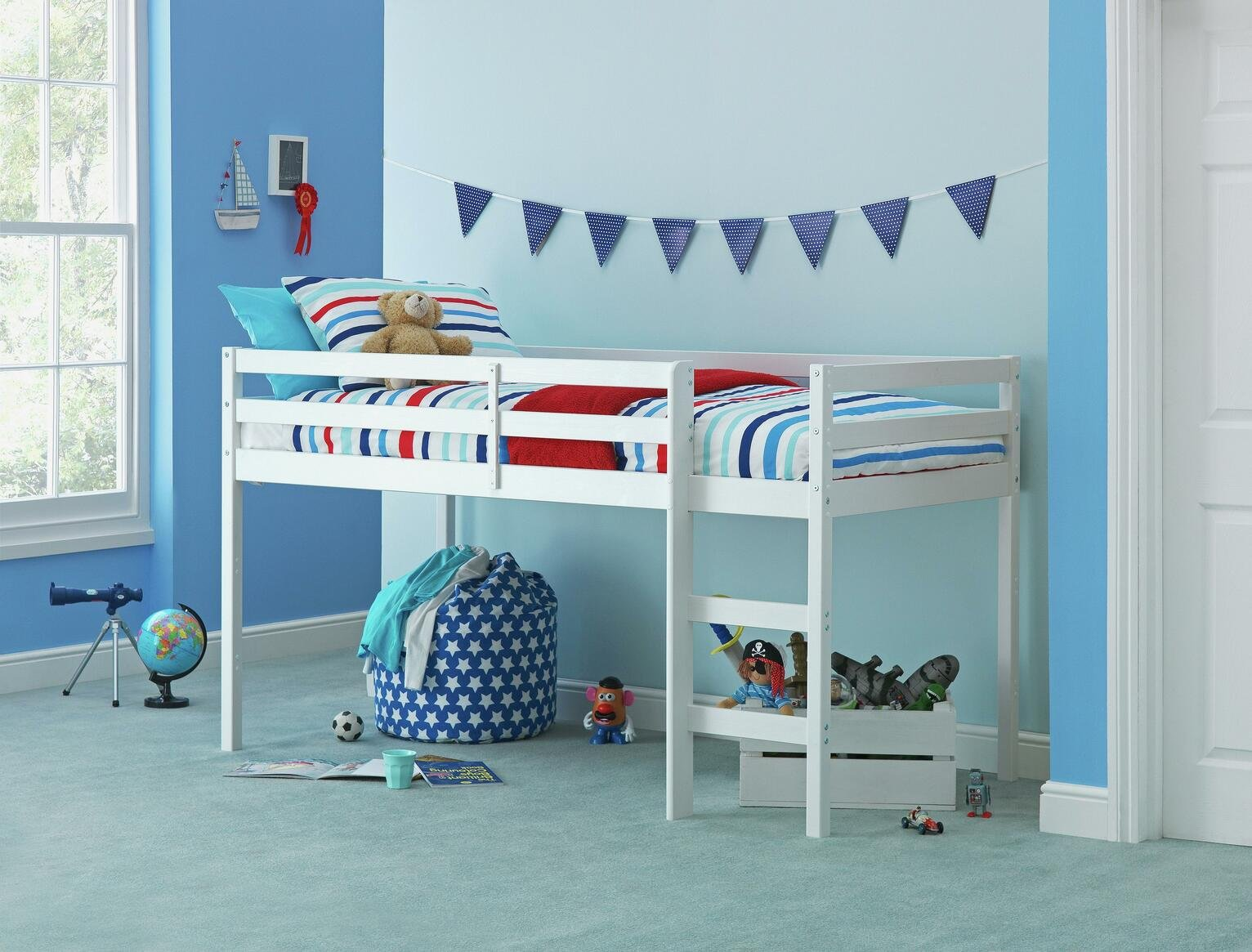 Argos Home Kaycie White Mid Sleeper Single Bed Frame