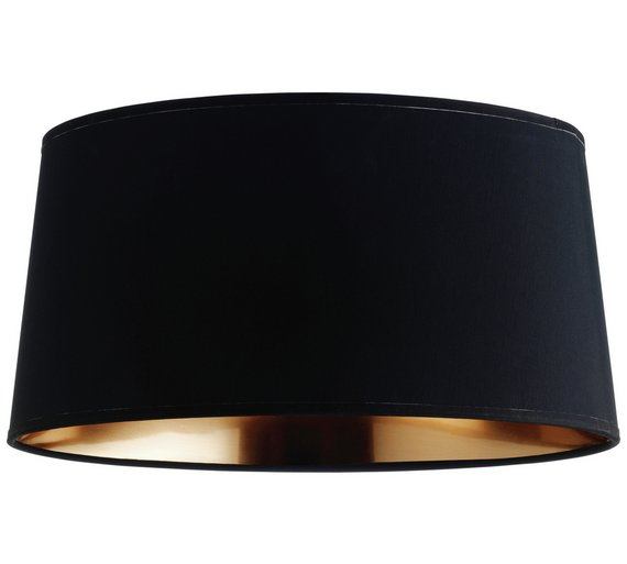 Habitat mini grande tapered lampshade black