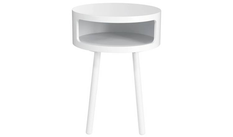 Habitat Bumble Side Table - White
