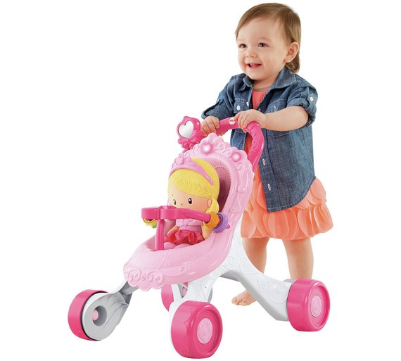 Buy Fisher-Price Princess Mummy Stroll-Along Musical Walker at ...