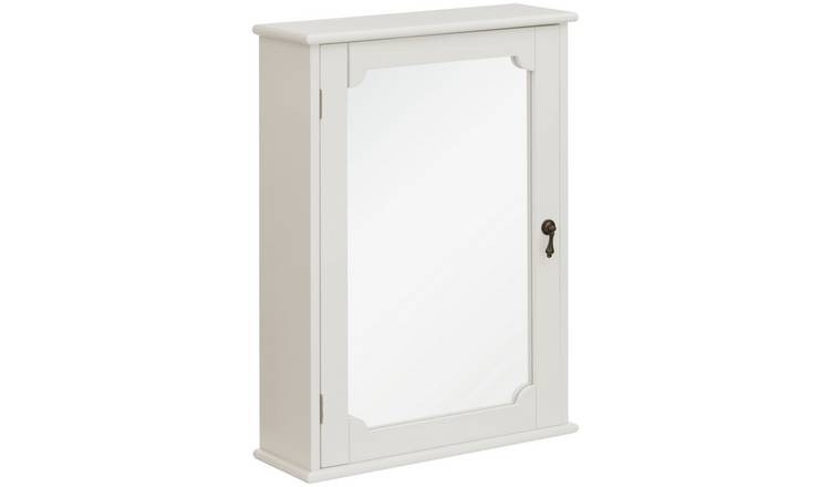 Premier Housewares Marcella Ivory Bathroom Wall Cabinet.