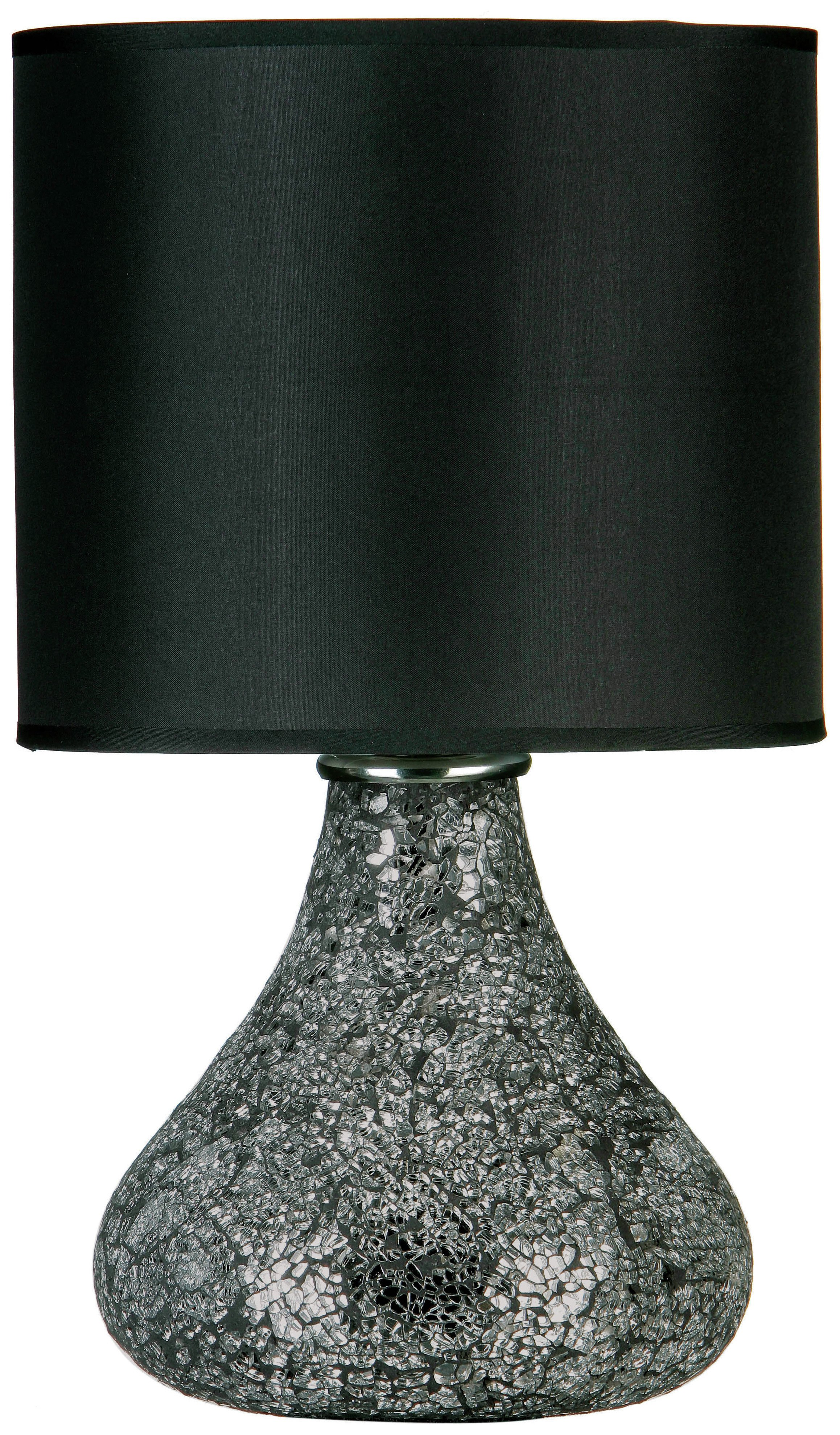 Image of Opulence Mosaic Base Table Lamp with Black Shade.