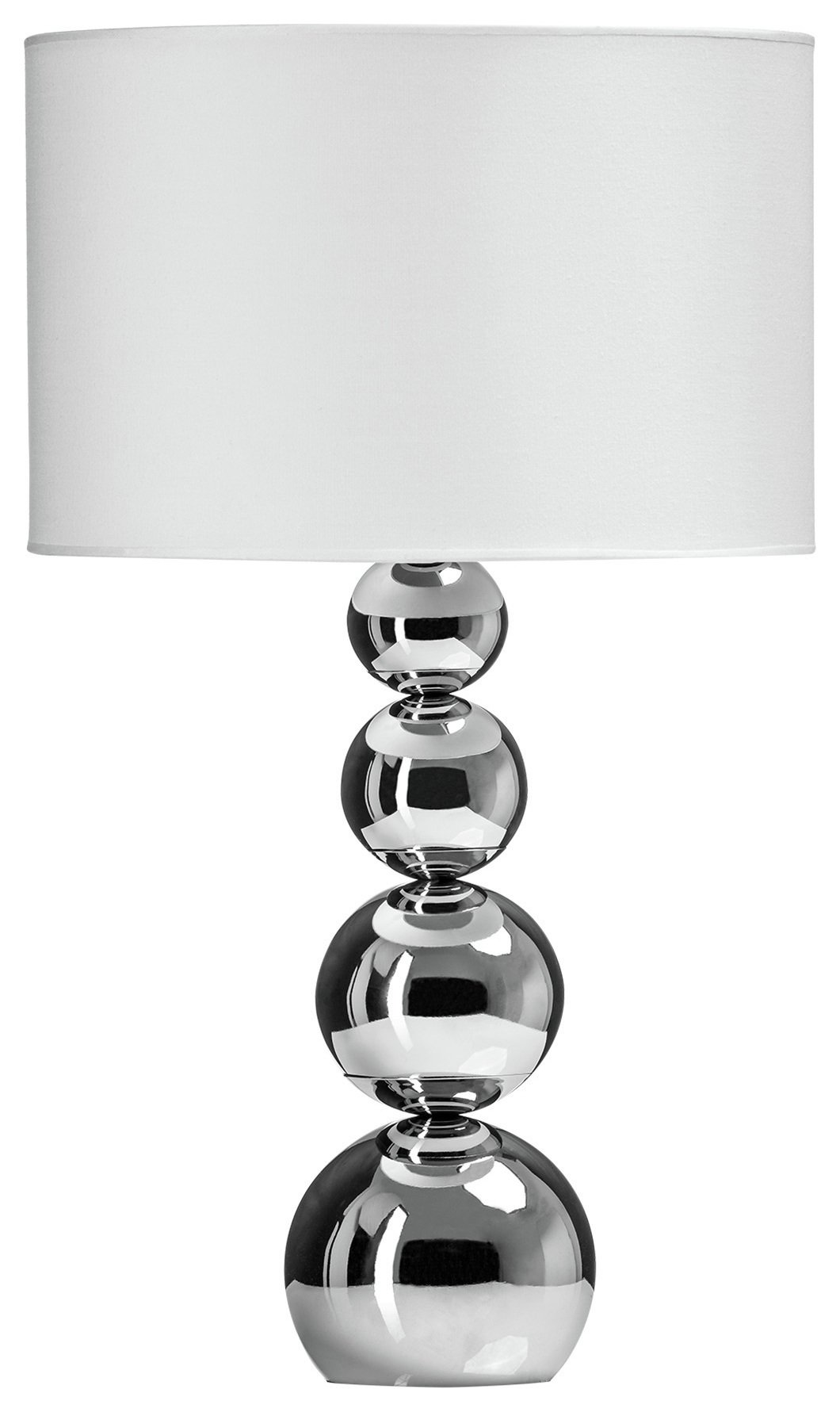Cameo Touch Table Lamp - Chrome & White