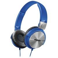Philips - SHL3160 DJ Style On-Ear Heaphones - Blue