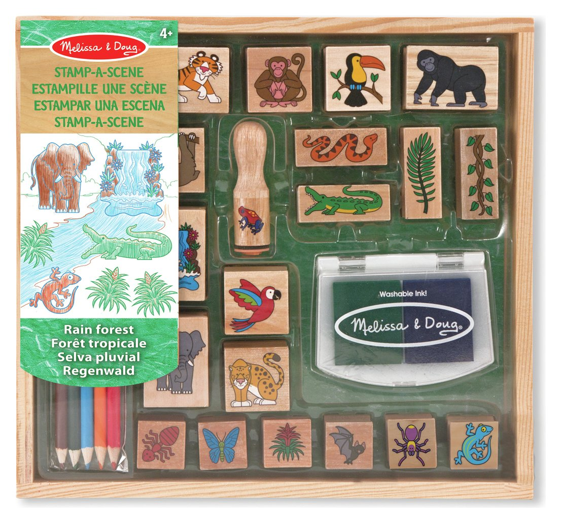 Melissa and Doug - Stamp a Scene Rain Forest