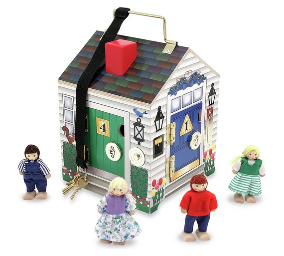 buy melissa and doug doorbell house at your. Black Bedroom Furniture Sets. Home Design Ideas