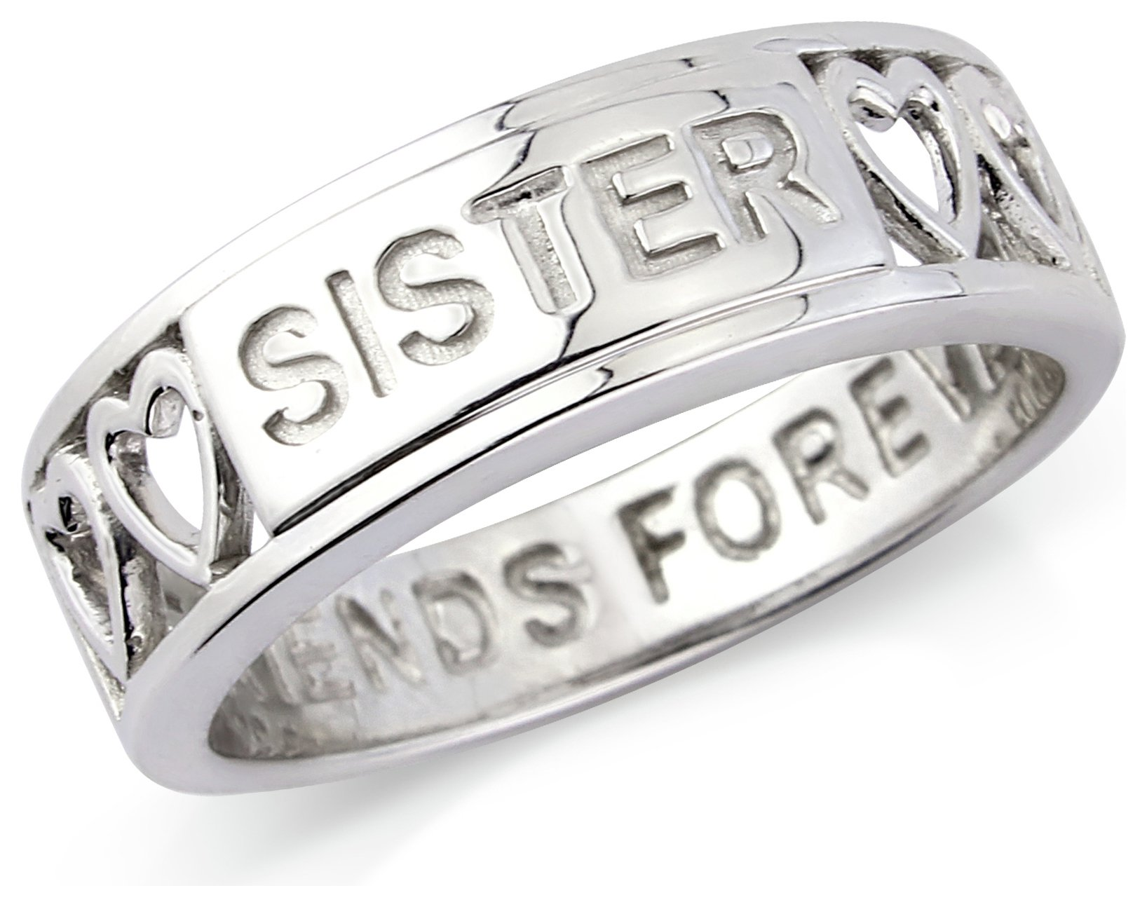 Buy Sterling Silver Sister Ring T at Argos Your line