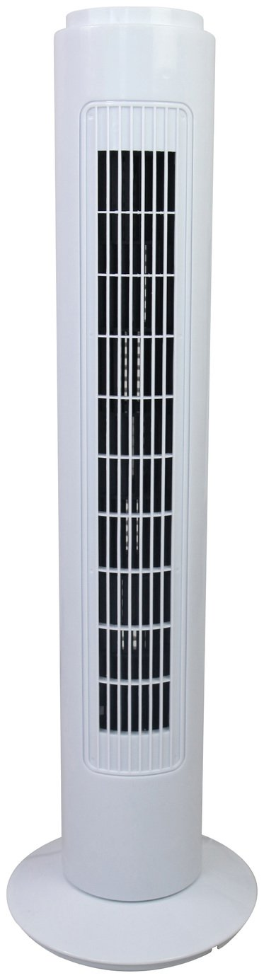 Simple value black white tower fan 30 inch