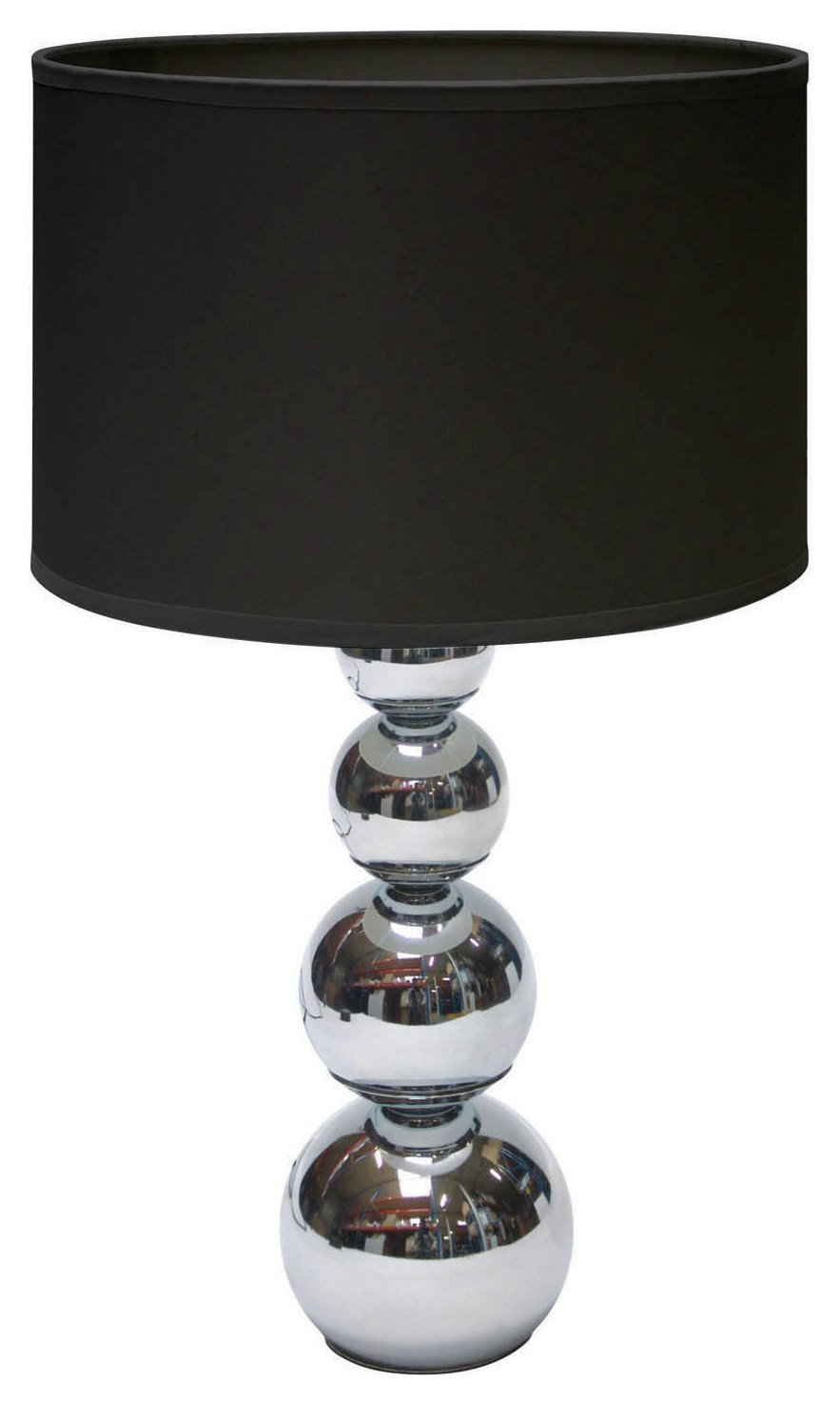 Cameo Touch Table Lamp - Chrome & Black