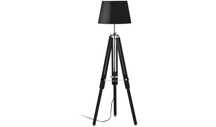 Tripod Base Floor Lamp - Black