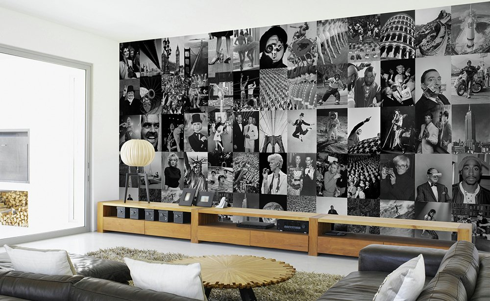 1Wall - Life Black and White Collage