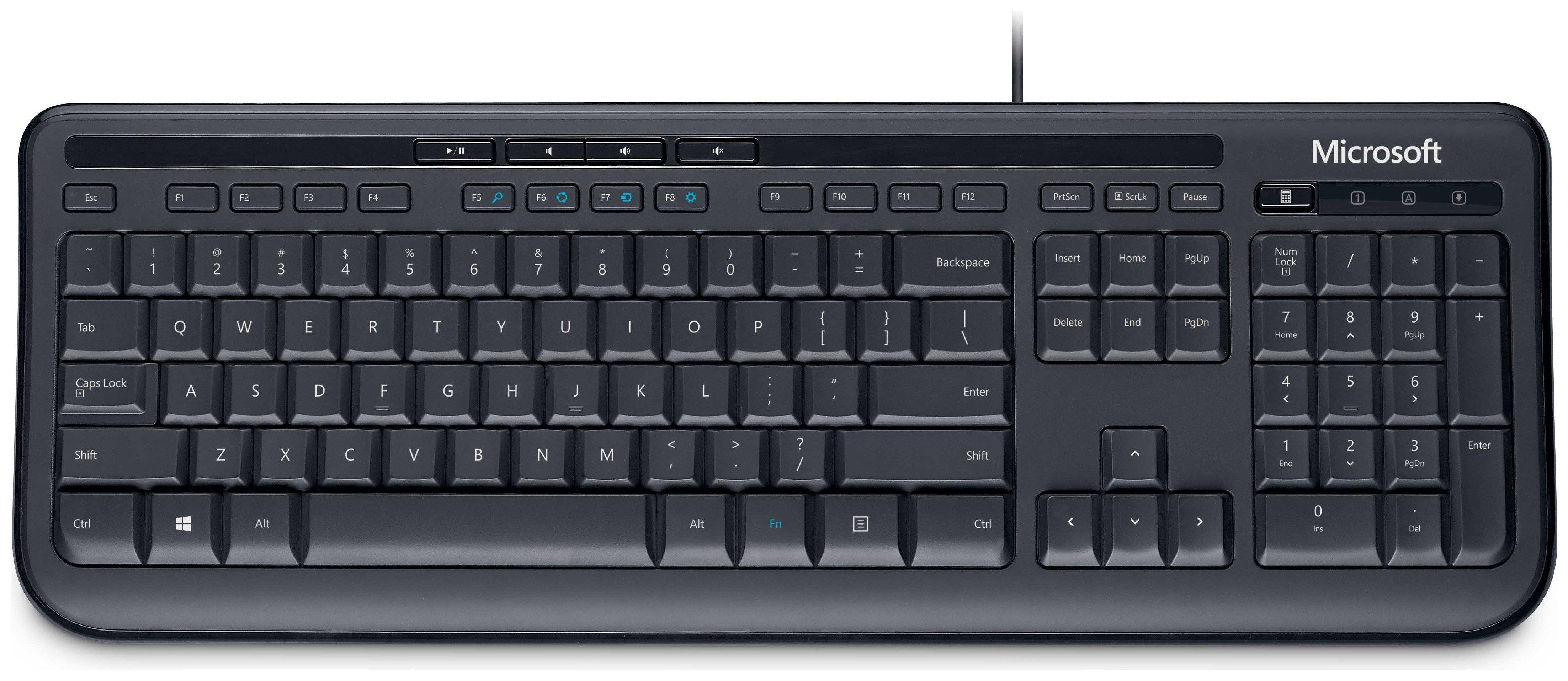 Microsoft 6000 Wired Keyboard - Black.