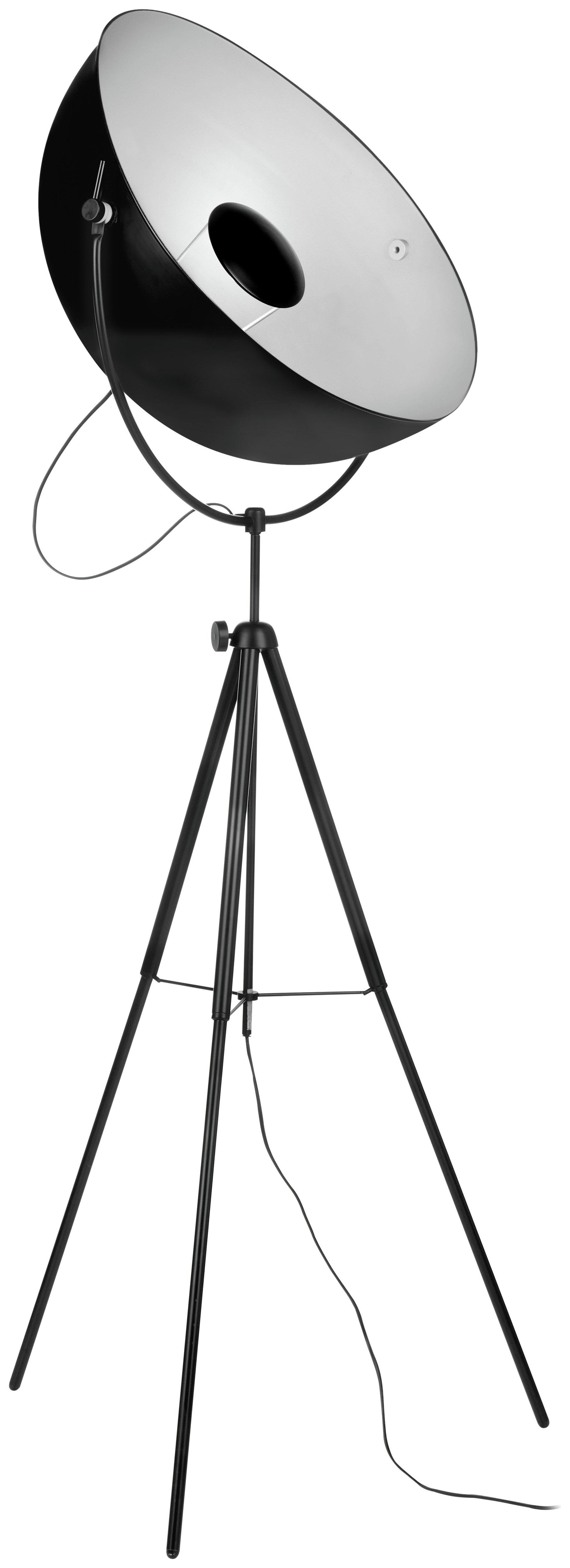 Image of Spotlight Floor Lamp & Tripod Base - Black