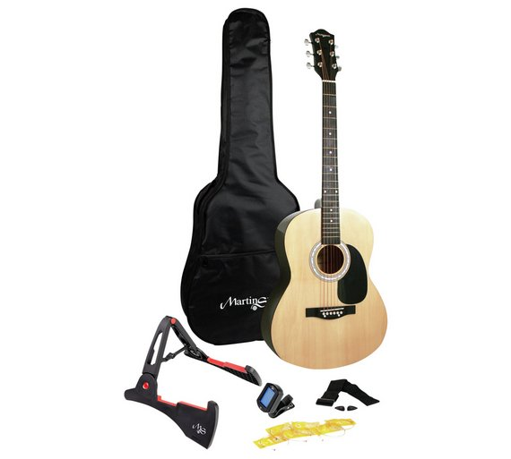 buy martin smith full size acoustic guitar and accessories acoustic guitars argos. Black Bedroom Furniture Sets. Home Design Ideas