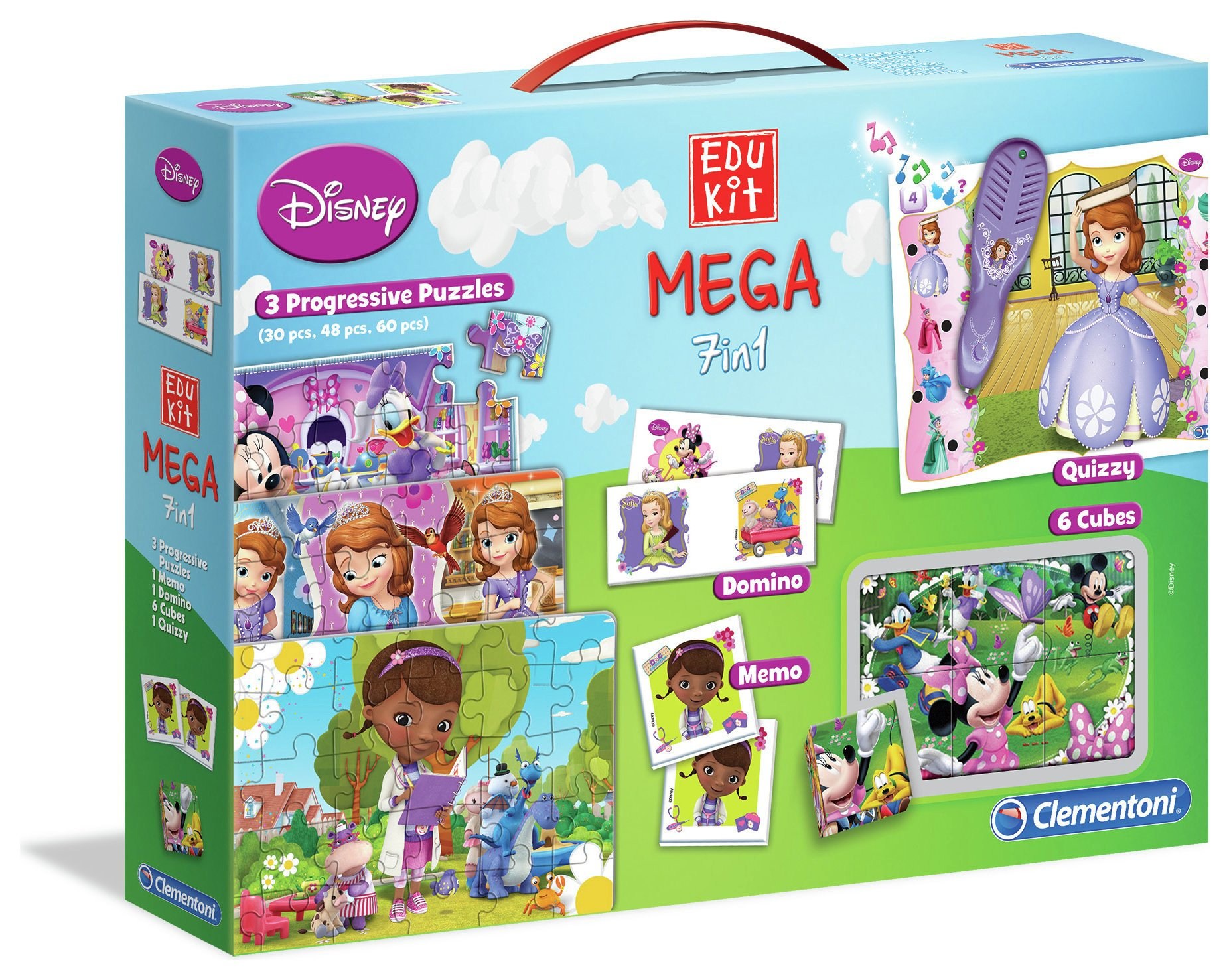 Image of Clementoni Disney - Junior 7 in 1 Mega Set.