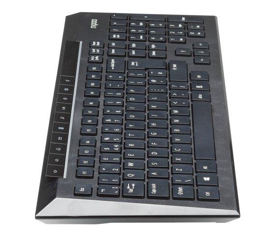 buy rapoo 8200p wireless mouse and keyboard deskset black at your online shop. Black Bedroom Furniture Sets. Home Design Ideas