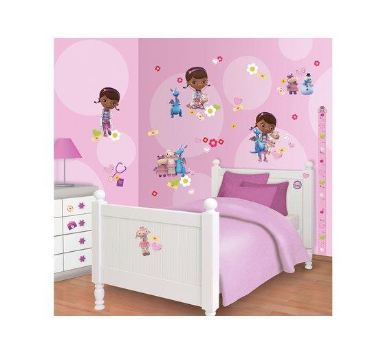 Wall art stickers argos : Buy walltastic disney doc mcstuffins room decor kit at