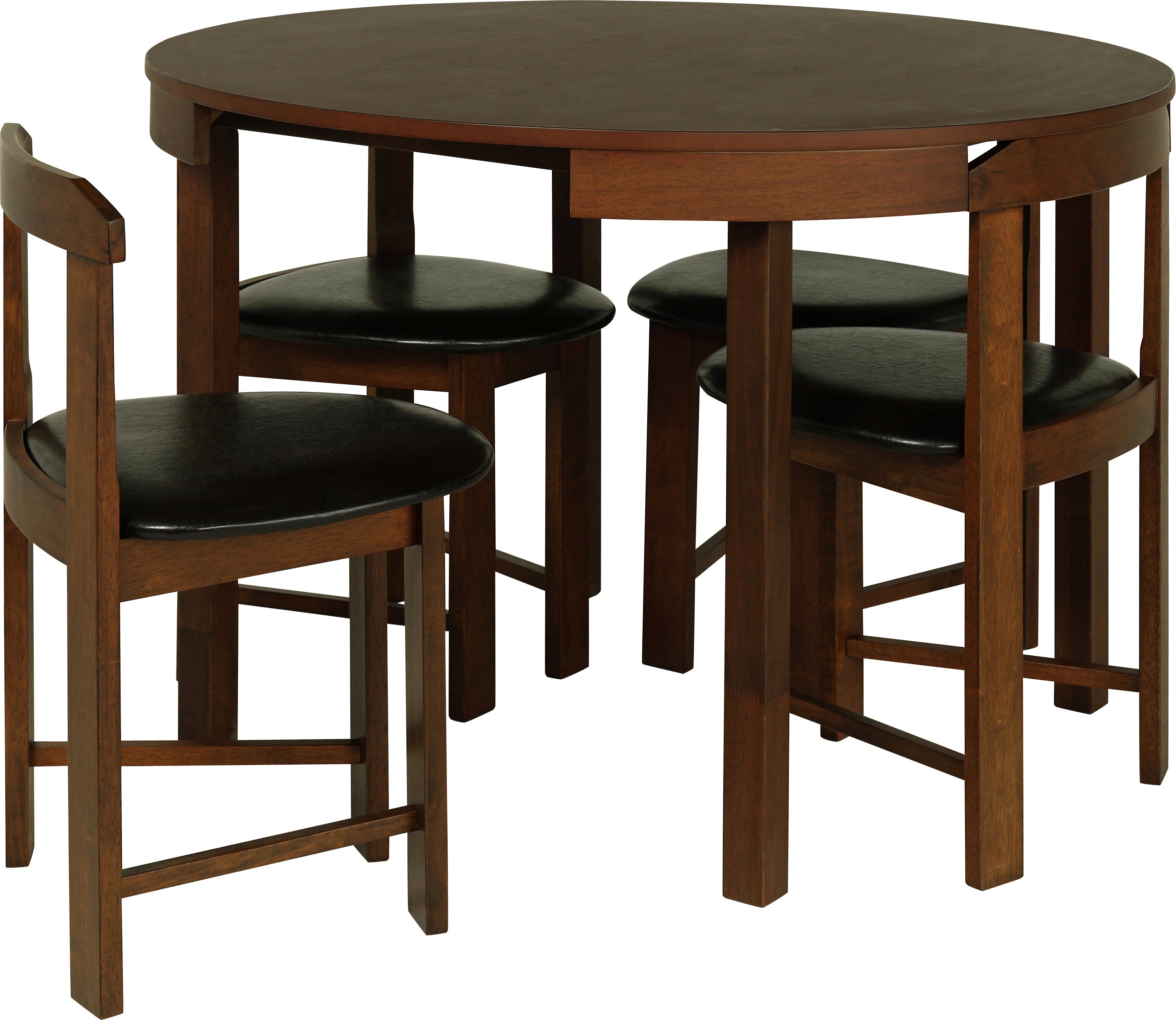 Hygena alena circular solid wood table 4 chairs octer for 99 normal table