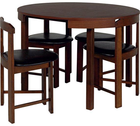 Buy Hygena Alena Solid Wood Circular Dining Table Amp 4
