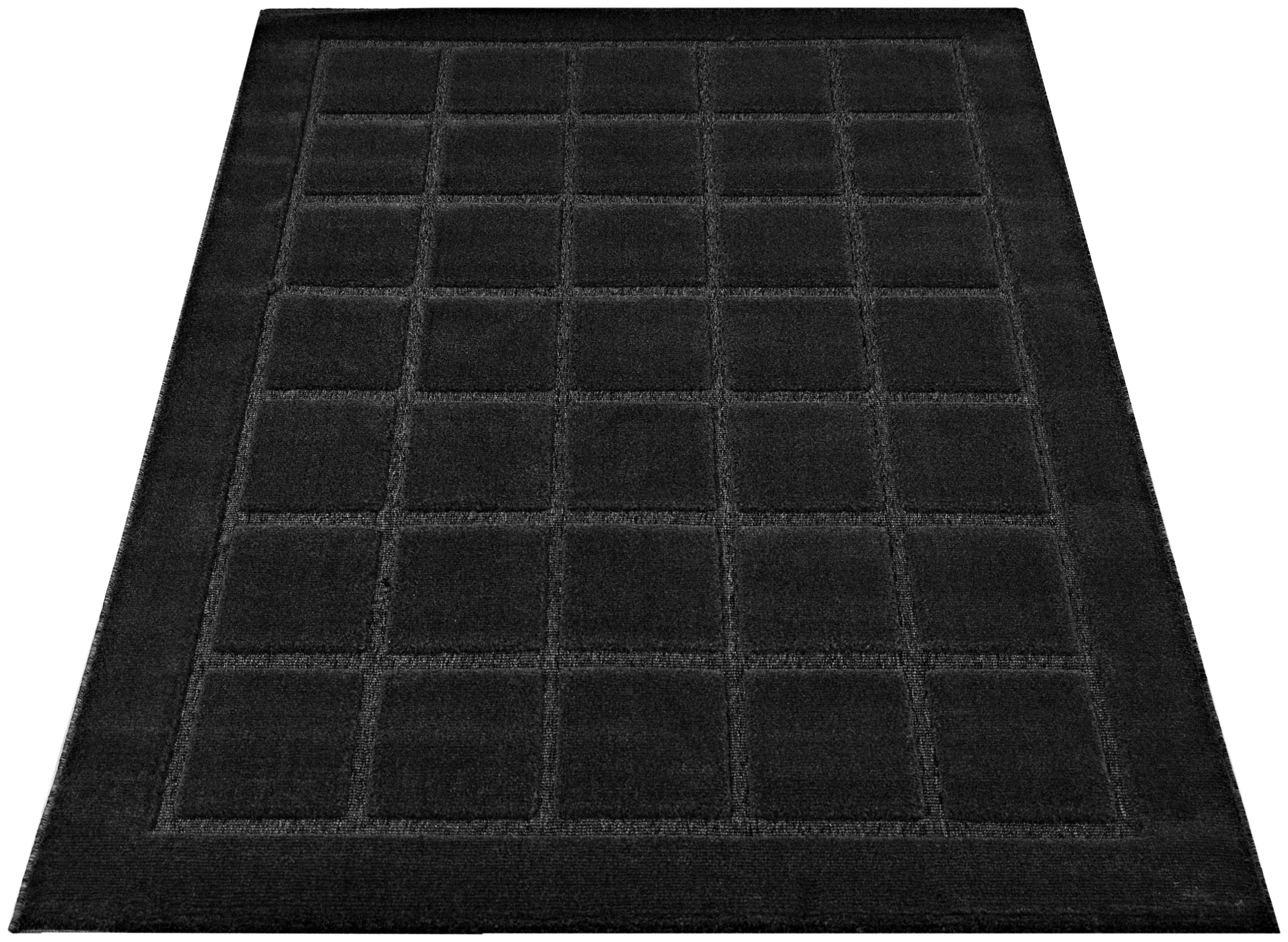 verona blocks rug 60x110cm anthracite. Black Bedroom Furniture Sets. Home Design Ideas
