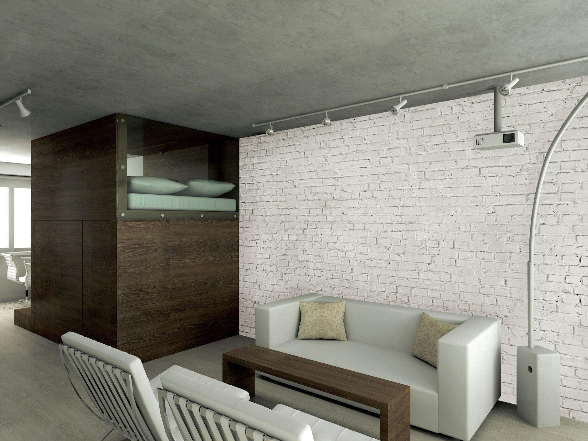 1Wall - White Brick - Wallpaper Mural