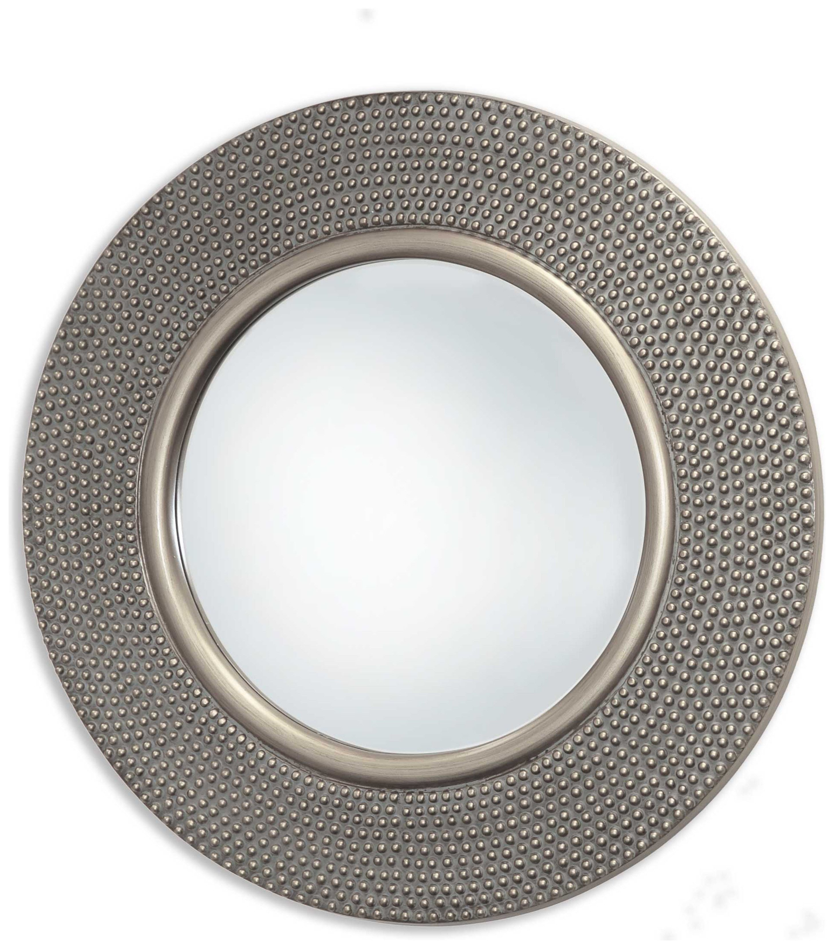 Hammered Mirror - Silver Effect