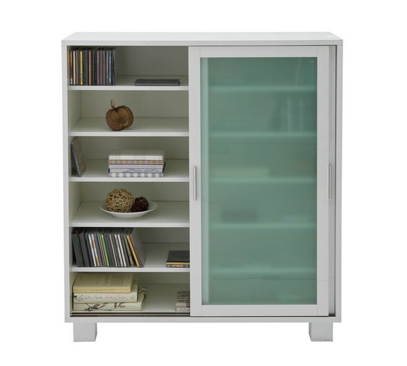 buy hygena tulsa shoe storage cabinet gloss white at. Black Bedroom Furniture Sets. Home Design Ideas