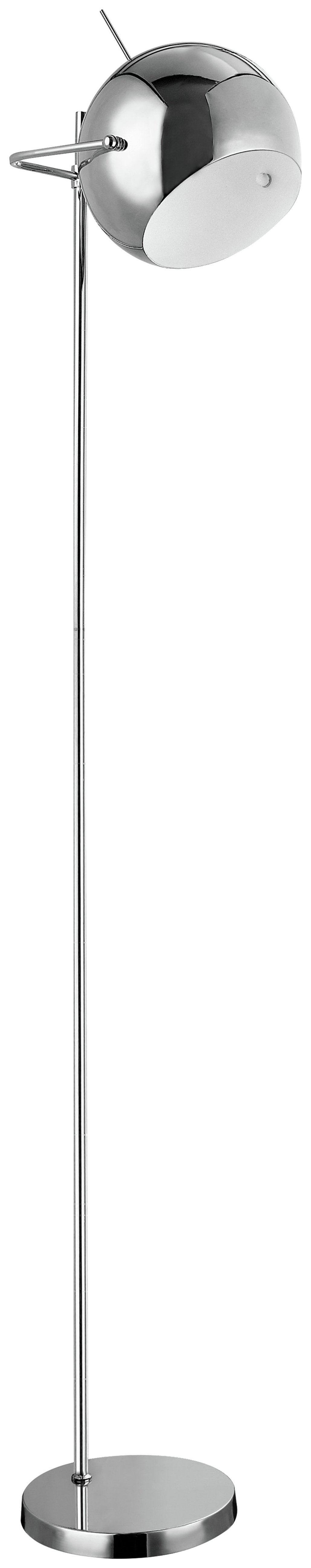 Image of Chrome & White Floor Lamp