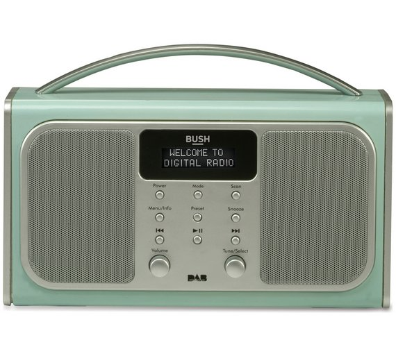 buy bush bluetooth dab radio blue at your. Black Bedroom Furniture Sets. Home Design Ideas