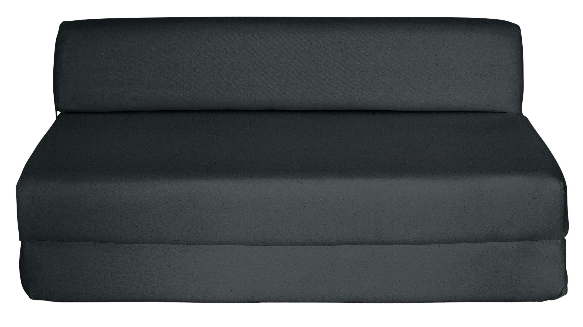 Buy ColourMatch Small Double Fabric Chairbed Jet Black at Argos