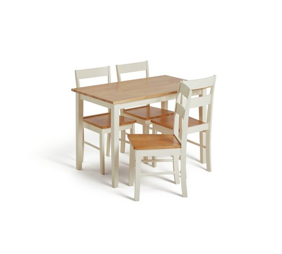 Buy Collection Chicago Solid Wood Table 4 Chairs