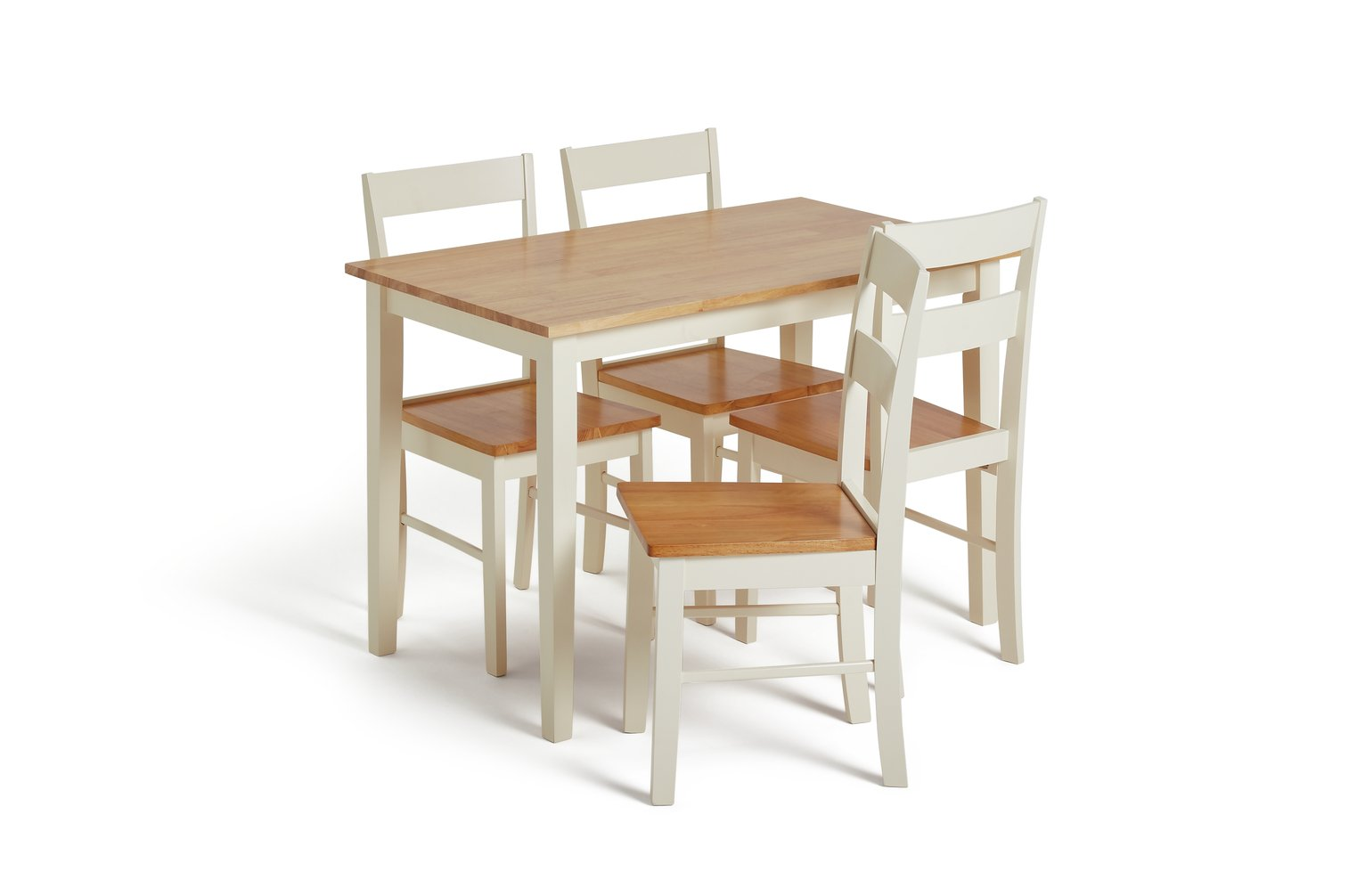 Collection Chicago Solid Wood Table U0026 4 Chairs   Two Tone
