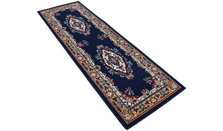 Maestro Traditional Runner - 67x300cm - Navy.