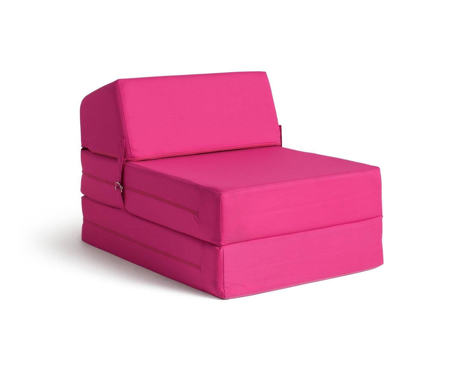 Argos Home Single Cotton Chair Bed - Funky Fuchsia