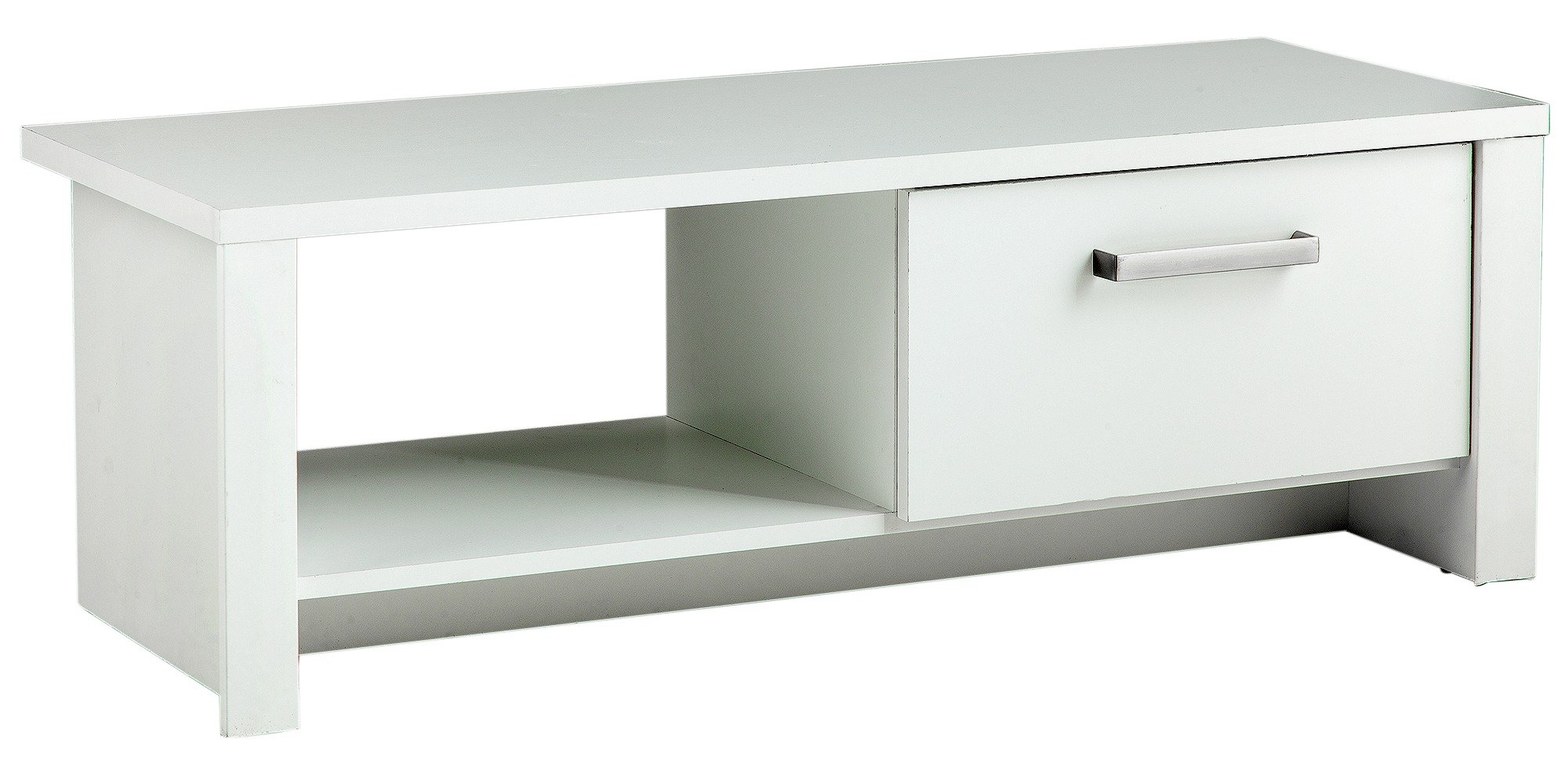 Image of HOME Bailey 1 Drawer TV Unit - White