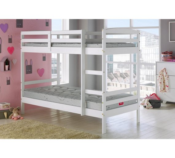 Buy Argos Home Josie White Single Bunk Bed Frame Kids