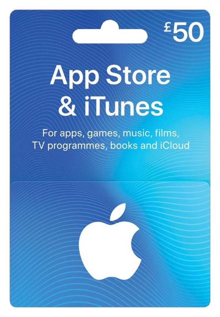 '£50 App Store And Itunes Gift Card