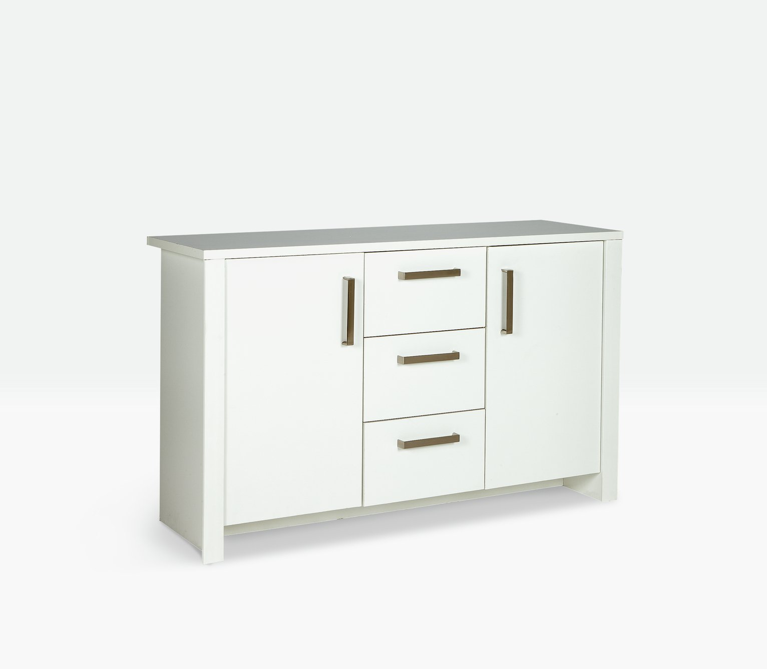 Image of HOME Bailey 2 Door 3 Drawer Sideboard - White