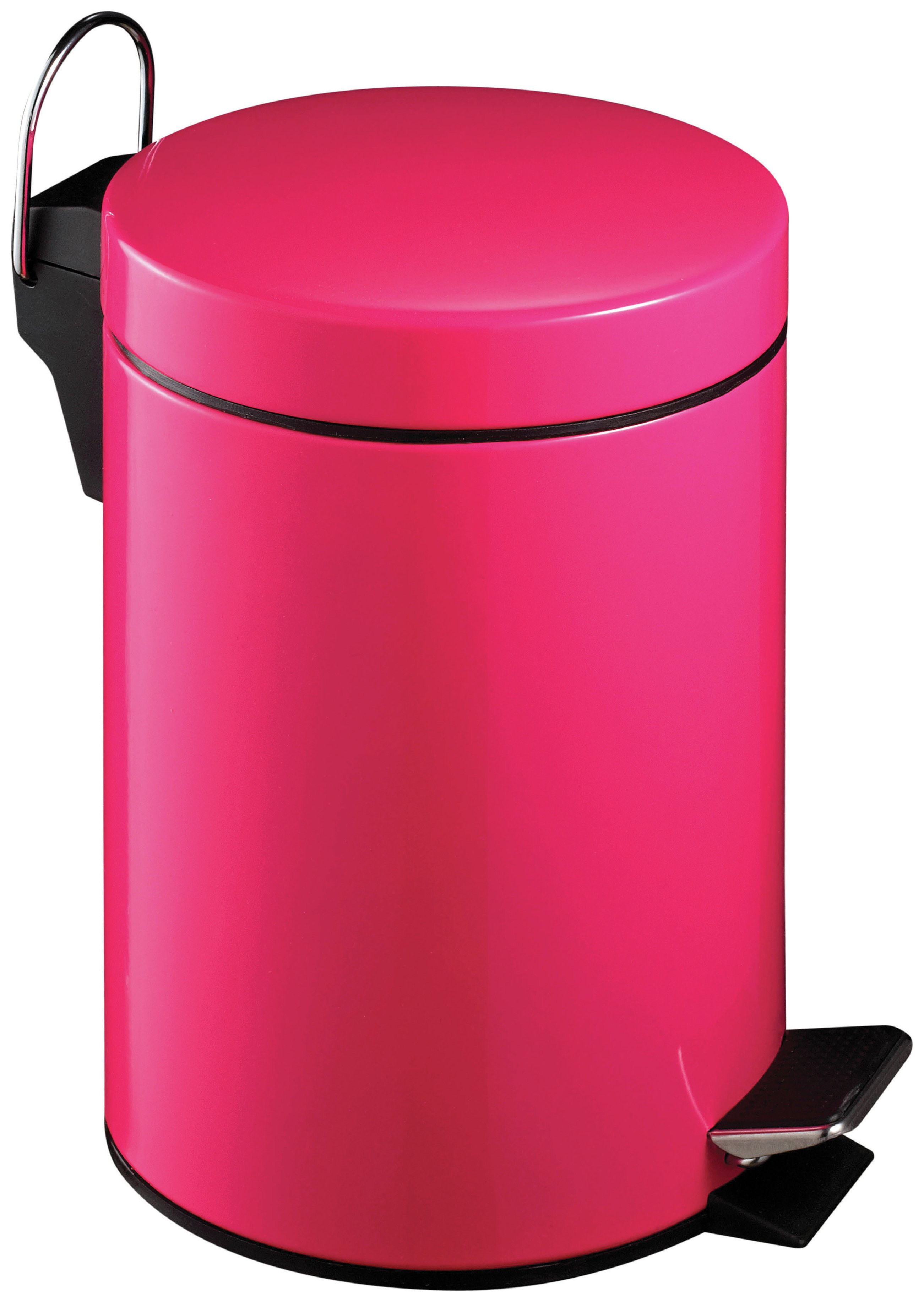 Premier Housewares 3 Litre Hot Pink Pedal Bin.
