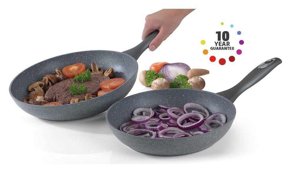 Image of Salter - 2 Piece Marble Frying Pan Set