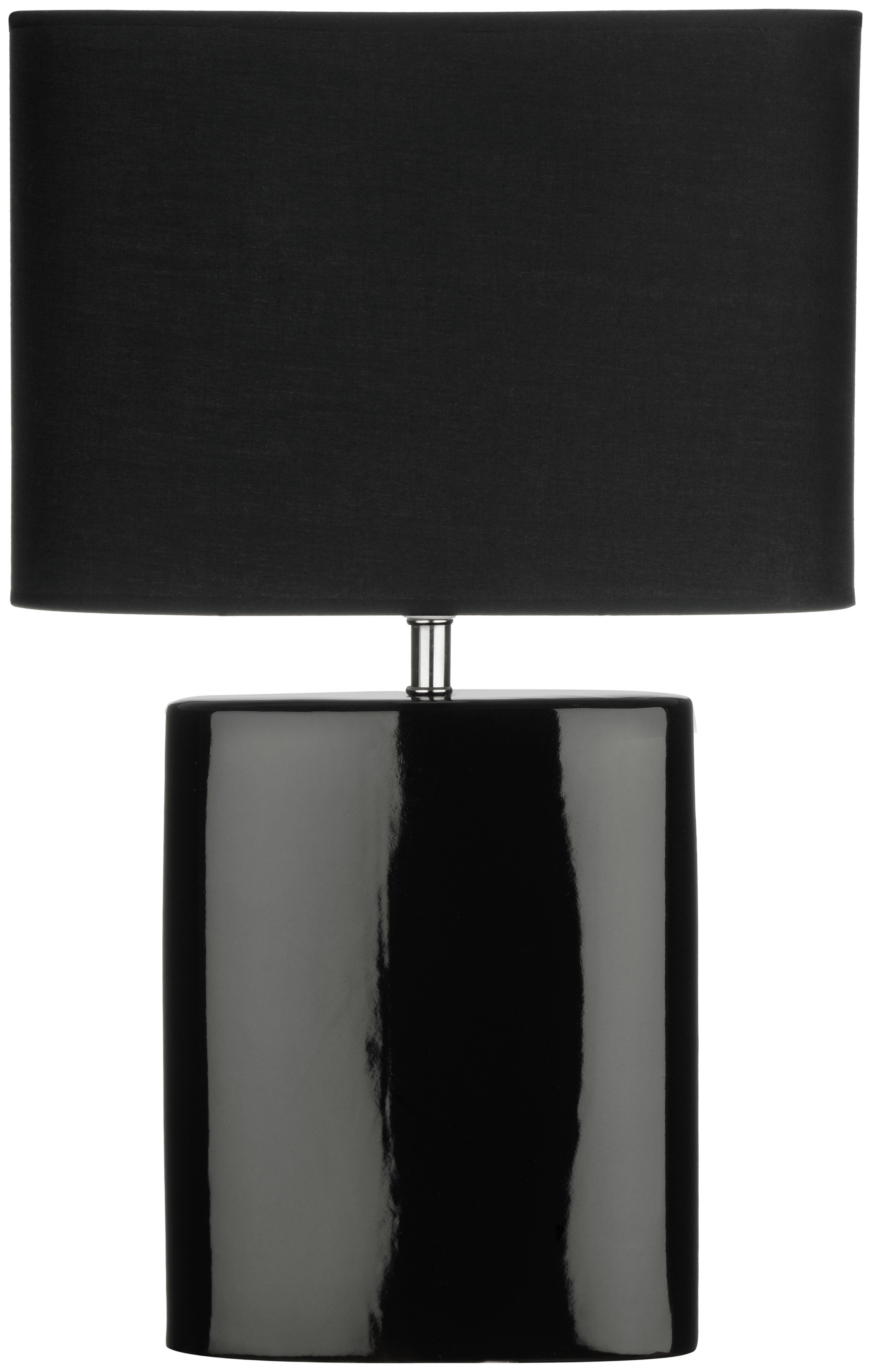 Image of Ellipse Table Lamp with Black Shade.