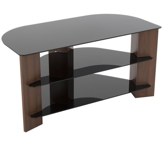 Buy Avf Up To 42 Inch Tv Stand Black Glass And Walnut Effect Tv