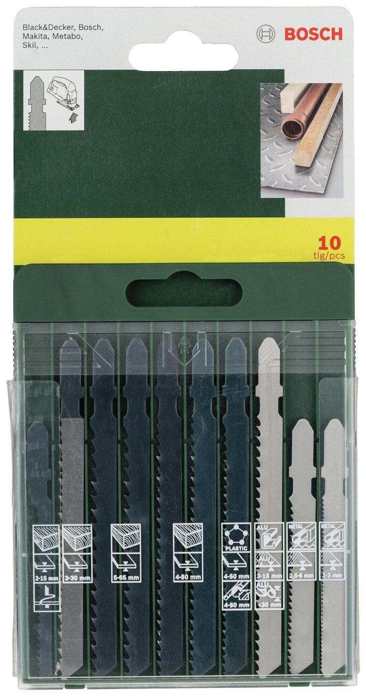 Bosch 10 Piece Jigsaw T-Shank Blade Set