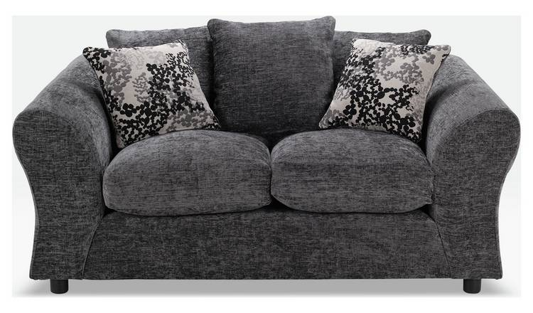Argos Home New Clara Compact 2 Seater Fabric Sofa - Charcoal