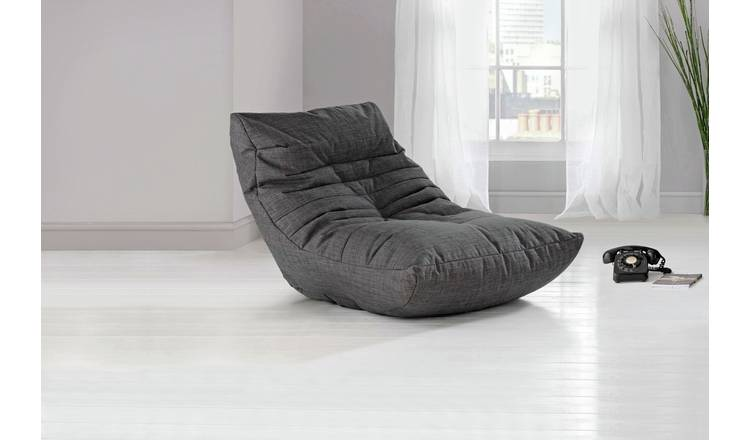 Buy Argos Home Fabric Lounger Chair Charcoal | Armchairs and chairs | Argos